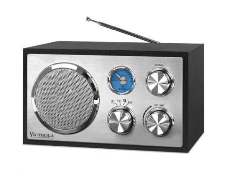 Mini Speaker Victrola VRS-2400 Retro Wooden Preto