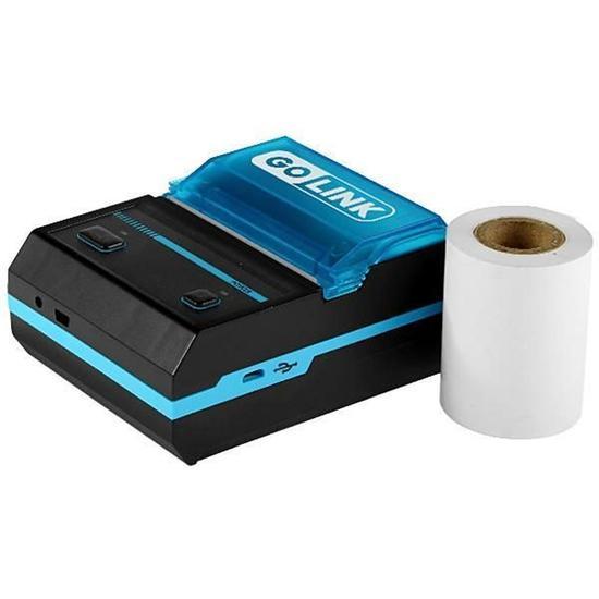Impressora Termica Go Link GL-1020 com Bluetooth/Bivolt para 58 MM - Preto/Azul