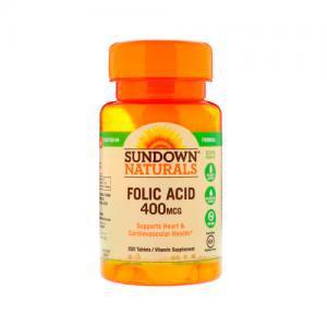 Folic Acid 400MG 350 Capsulas Sundown