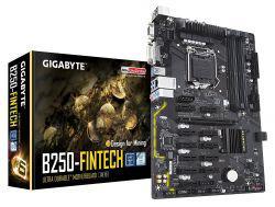 MB Gigabyte LGA1151 B250-Fintech DDR4 c/12PCI