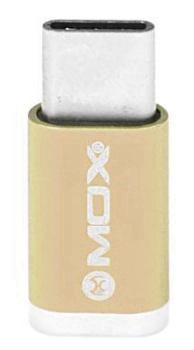 Adaptador Mox Microsd para USB Tipo-C MO-PL02 - Dourado