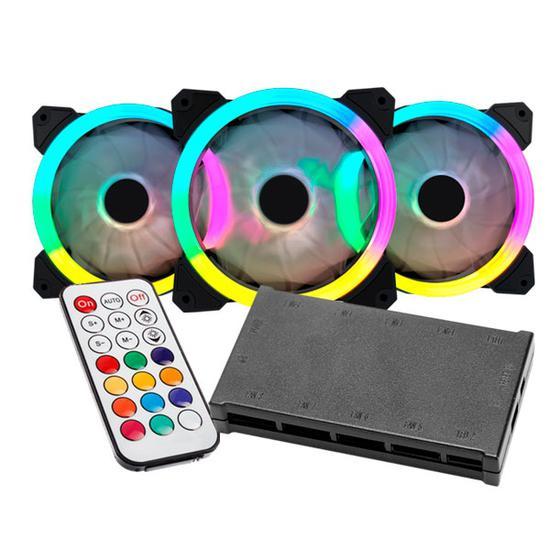 Cooler para Gabinete Satellite 12X12 18C RGB com 3 Pecas