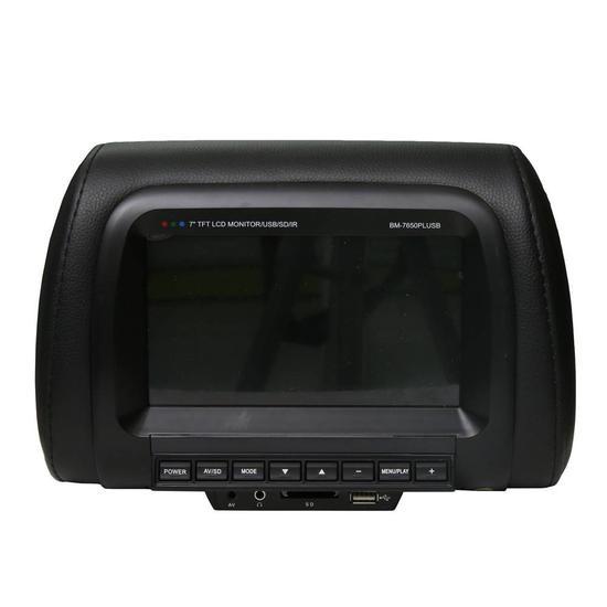 """Tela Encosto Booster BM-7650PLUSB 7"""" USB Preto"""