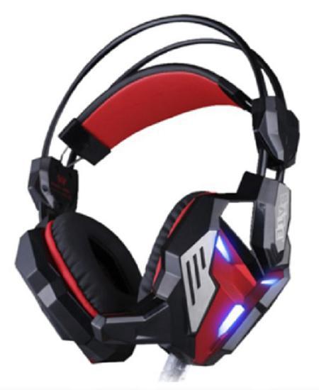 Fone de Ouvido Gaming Satellite com Microfone AE-350 USB Preto/Vermelho