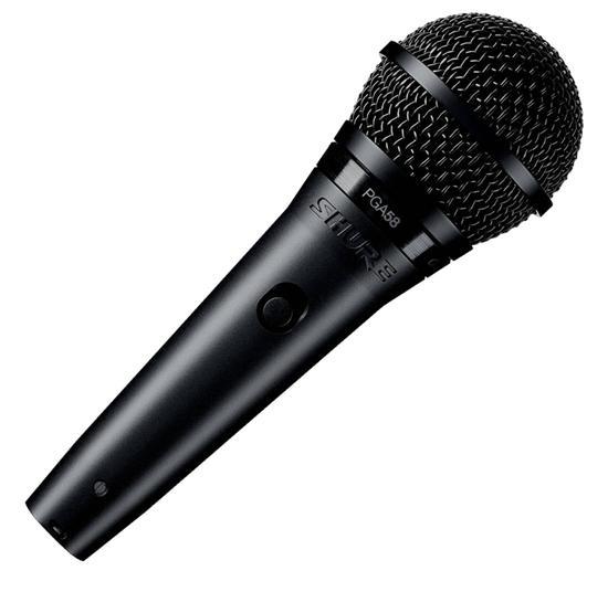 Microfone Vocal Shure PGA58-XLR com Fio Preto