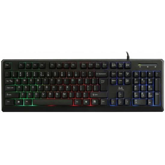 Teclado Mtek KPL931 Gaming Port Multicolor Preto
