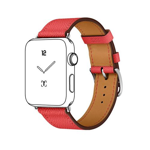 Pulseira 4LIFE de Couro para Apple Watch 42MM - Vermelho