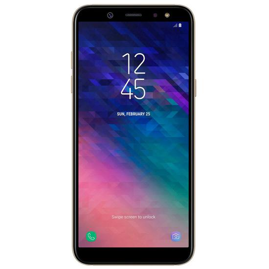 "Celular Samsung Galaxy A6+ A605G 32GB / 4G Lte / Single Sim / Tela 6.0"" / Cameras 16MP e 24MP - Dourado"