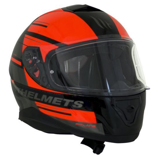 Capacete MT Helmets FF102SV Thunder 3 SV Pitlane Ca Gloss - com Oculos - Preto e Vermelho - XL