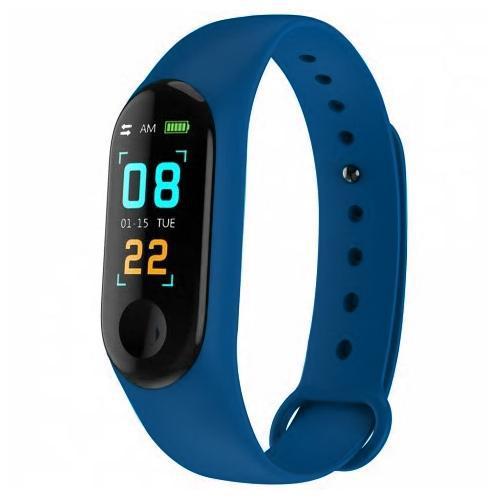 """Smartwatch Health Bracelet MD-M3 para Atividades Fisicas, Tela 0.96"""", Unissex com Bluetooth - Azul Escuro"""
