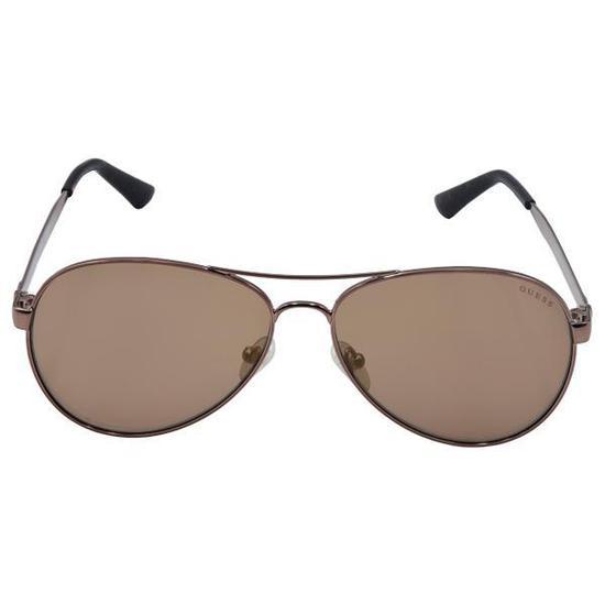 a8800856b9ba5 Oculos de Sol Guess Gu 6910  48G  58 Feminino - Rosa Ouro Marrom na ...