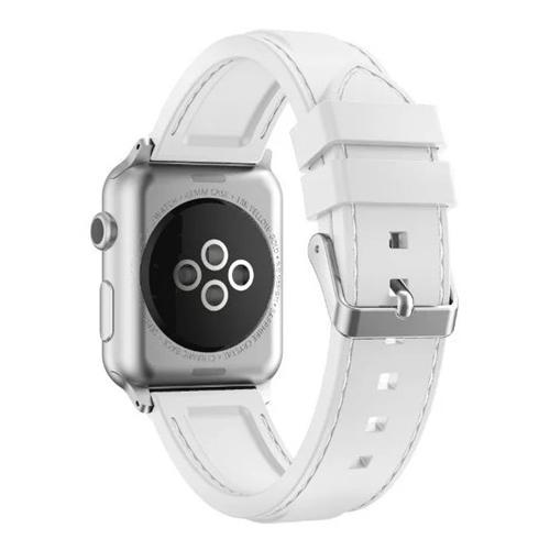 Pulseira 4LIFE de Silicone Costurada para Apple Watch - 42MM - Branco
