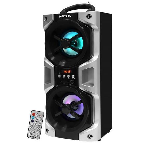 Caixa de Som de Som Mox MO-K20B Bluetooth/USB 3600 Watts P.M.P.O - Preto/Prata