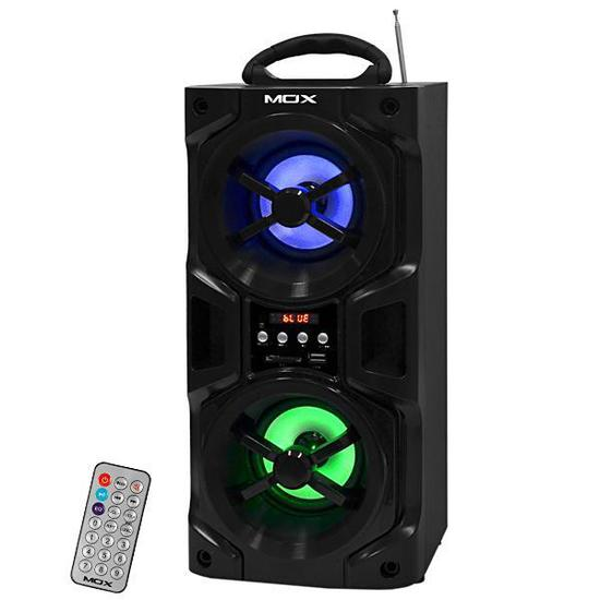 Speaker Mox MO-K20B USB SD MMC FM Preto