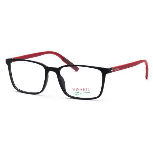 d8abbff2f Oculos de Grau Visard MZ06-16 Masculino, Tamanho 52-17-140 C01G - Preto e  Vermelho