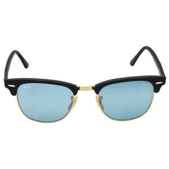 7e4a442c7d77d Oculos de Sol Ray-Ban Clubmaster RB3016  901S3R  51 Feminino -  Azul Preto Dourado