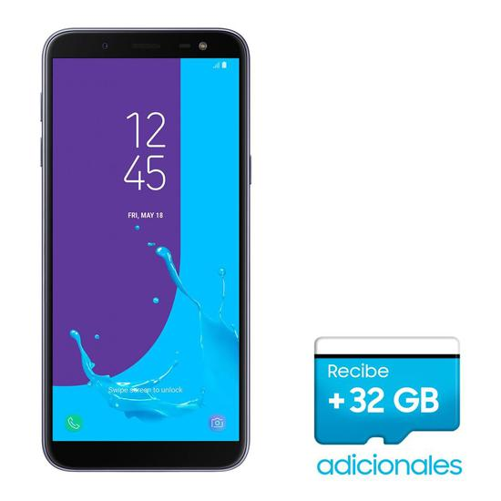 Smartphone Samsung Galaxy J6 SM-J600G Dual 32GB de 5.6 13/8MP Os 8.0 + Mem 32GB/SD Promo - Lavanda