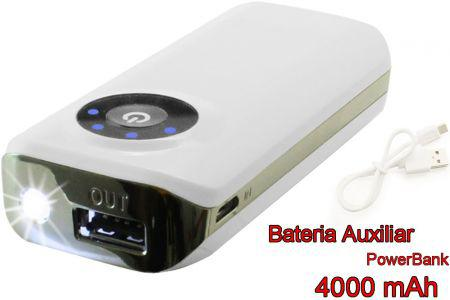 Carregador Powerpack PWBA-4000WH Power Bank com Lanterna