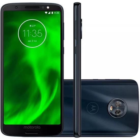 Smartphone Motorola Moto G6 XT1925 3GB+32GB Lte Dual Sim 5.7 Cam.12MP/5MP+8MP-Preto
