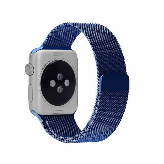 Pulseira 4LIFE Apple Milanese Loop Azul 38MM