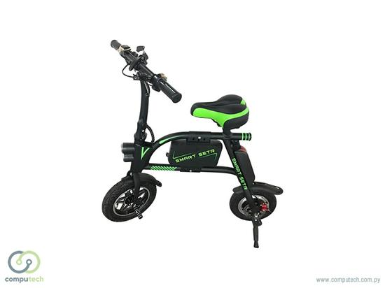 Bike Eletrica HL-EM-19 - Preto com Verde