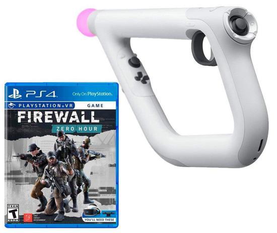 Controlador Playstation VR+Jogo Firewall Zero Hour Bundle - PS4