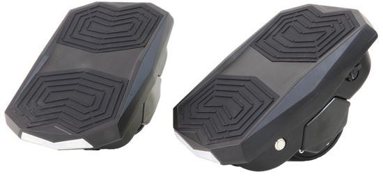 """Scooter Hovershoes com LED e Roda de 3.5"""" Preto"""