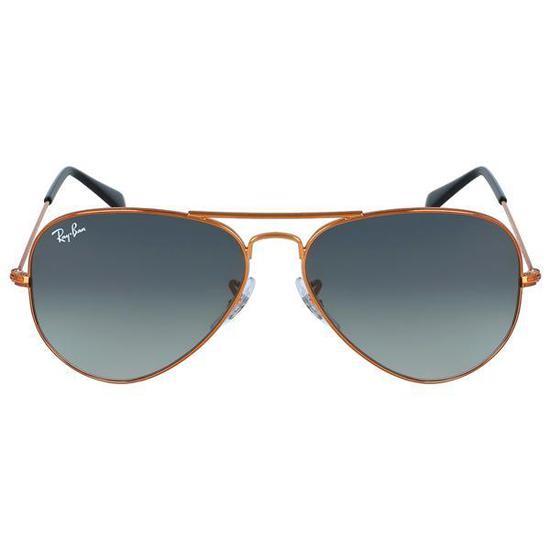 Oculos de Sol Ray-Ban Aviator RB3025  197 71  58 Unisex - Preto ... d405dc799b