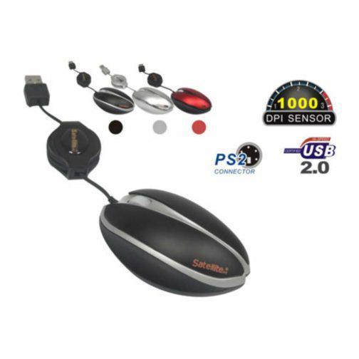 Mouse Satellite A-22 USB Vermelho