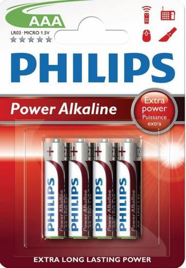 Pilha Philips Alkaline AAA 4 Pilhas 1.5V