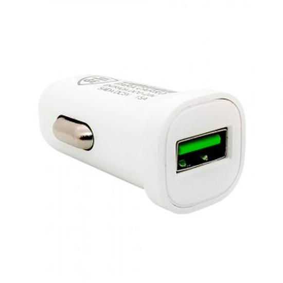 Carregador Veicular USB Gold Edition GE-M10 com Carga Rapida - Branco