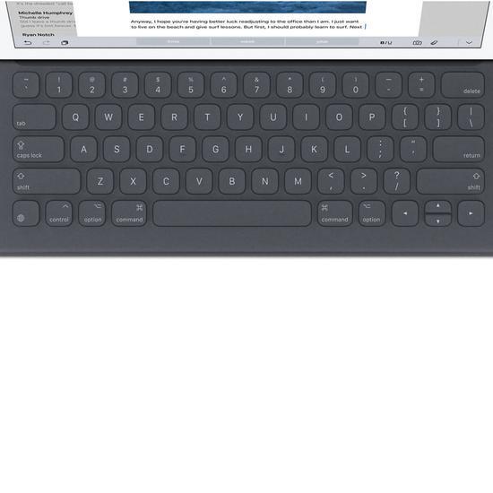 "Teclado Sem Fio Apple Smart Keyboard MM2L2AM/A p/ iPad Pro 9.7"" (Ingles) Preto"