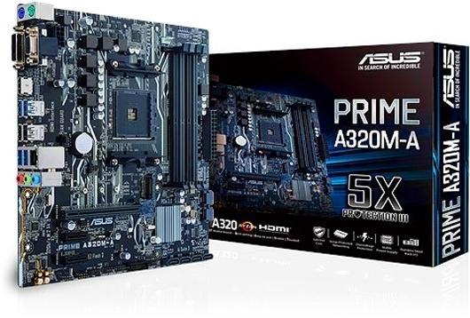 Placa Mãe Asus AM4 A320M-A Prime / M.2/ HDMI/ VGA/ DVI