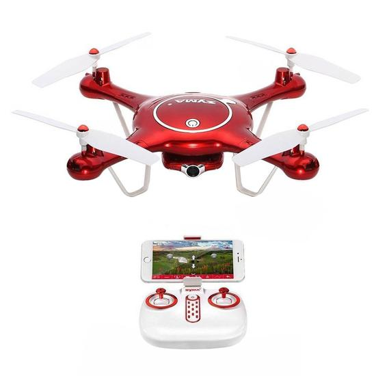 Drone Syma X5UW FPV Real-Time HD/Wifi Vermelho