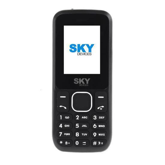 """Celular SKY Devices F1 Prime Dual Sim Tela de 1.77"""" Camera VGA - Preto"""