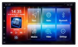 "Mult Aikon 8.0 Android 7.1 Universal AK-8200S 6.95"" C/DVD com TV"