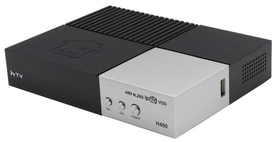 Receptor Fta HTV H-400 Full HD Wifi Bivolt Preto/Cinza