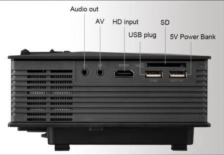 Mini Projetor Unic UC46 - Wifi - HDMI - Android