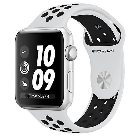 b130a9d58 Apple Watch Nike+ Series 3 42 MM MQL32CL A A1859 - Silver Pure Platinum