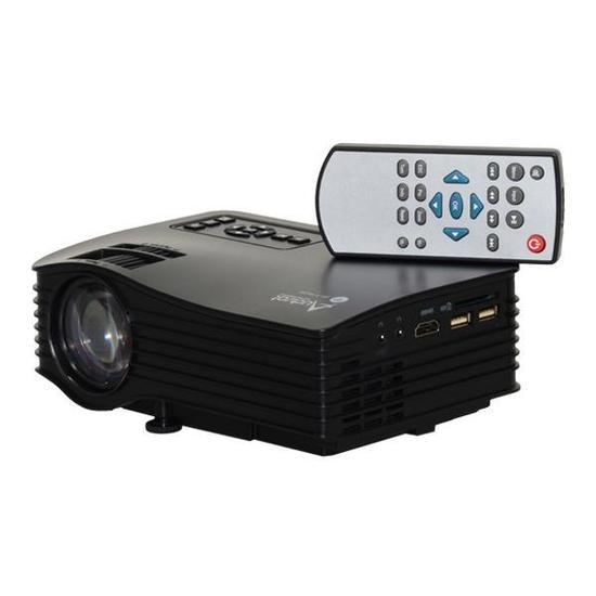 Projetor Audisat PJ-035 Wi Fi de 30 Ansi Lumens 1080P/ HDMI/ USB/ SD/ Bivolt - Preto