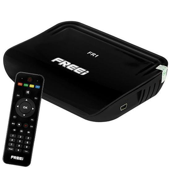 Receptor Fta Freei FR1 Full HD com Iptv/Wi-Fi/HDMI Bivolt - Preto
