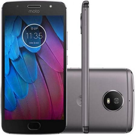 Celular Motorola G5S XT-1790 32GB / 4G / Single Sim / Tela 5.2EQUOT; / Cameras 16MP e 5MP - Cinza