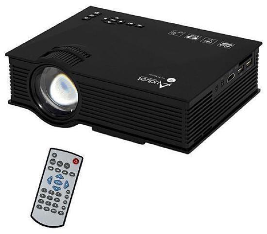 Projetor Audisat LED PJ-46 Wifi 2,4G 1200 Lumens Bivolt Preto