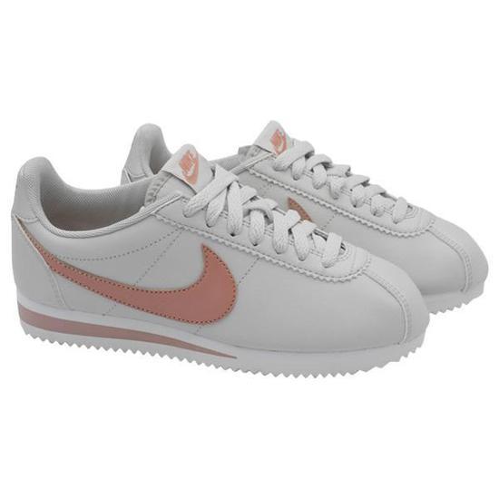 Tenis Nike Classic Cortez Leather Feminino No 9 - Branco Rosa na ... 4f5fb3df894bc