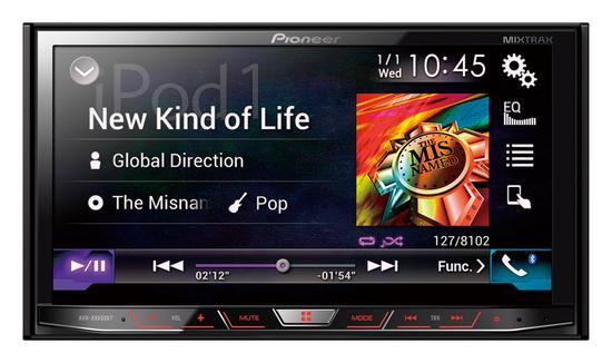 DVD Carro Pioneer AVHX-8650BT 2-Din Tela Touch VGA de 7 Mixtrax/Bluetooth/USB