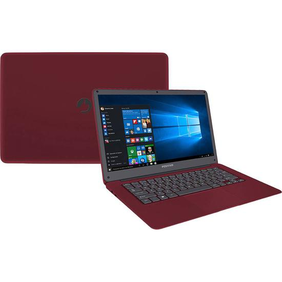 Notebook Positivo Q232A 14.1QUOT; Intel Atom X5 Vermelho 32 GB