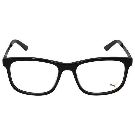 ab4824daf Armacao para Oculos de Grau Puma PE0056O *001 #55 Unisex - Preto/Prata