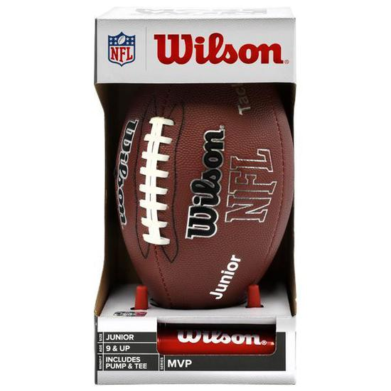 Bola de Futebol Americano Tradicional Wilson MVP Junior NFL - Marrom ... d727092d3f6f0