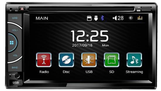 """Toca DVD Quanta QTRMT62 Tela 6.2"""" USB/BT/SD/MP3 - Preto"""