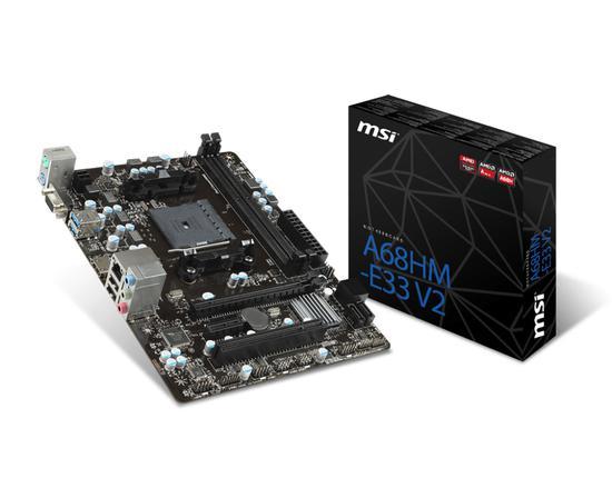 Placa Mãe FM2+ MSI A68HM-E33 V2 HDMI/VGA